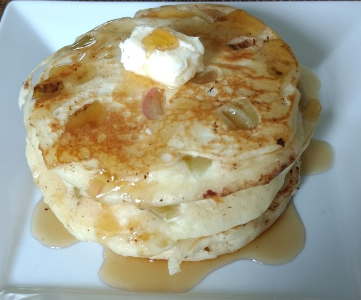 Buttermilk Rhubarb Pancakes