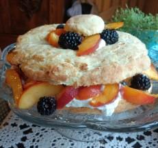 Peach Blackberry Shortcake