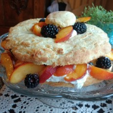 Peach Blackberry Shortcake