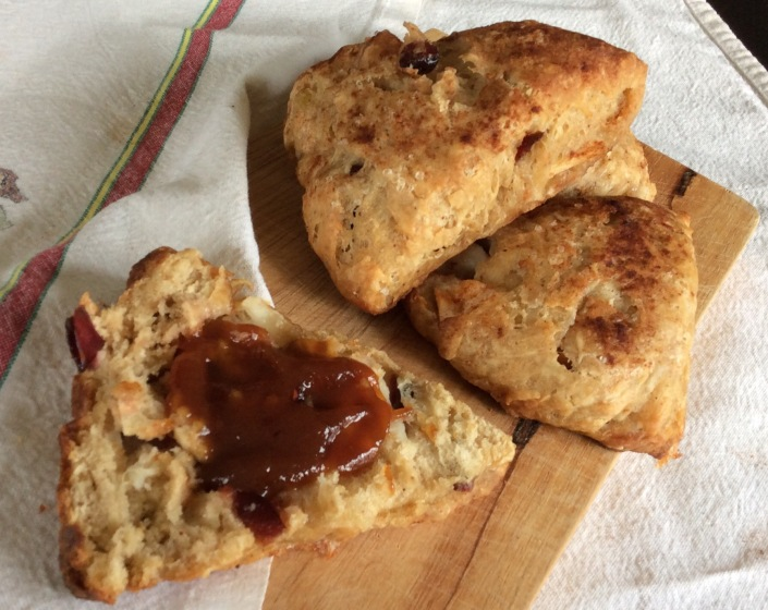 Double Apple Scones
