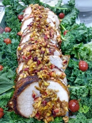 Festive Pork Loin with Apple Cranberry Topping