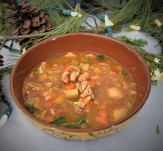 Tuscan Chicken, Bean and Squash Soup