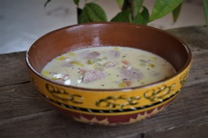 Spud, Leek and Sausage Chowder