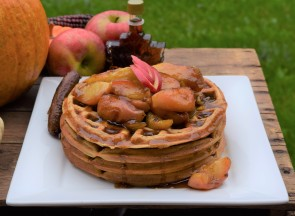 Pumpkin Buttermilk Waffles with Honeycrisp Apple Topping (3)