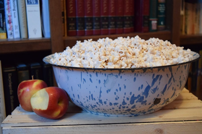 popcorn and apples