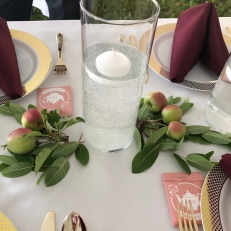 God DID make little green apples and they were used in the table decorations.