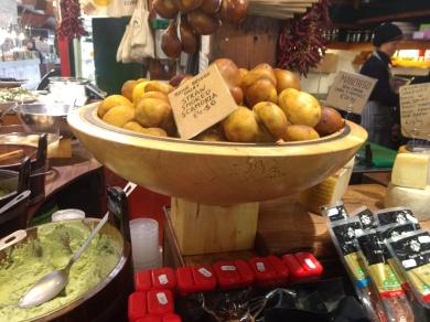 Cheese shaped like potatoes
