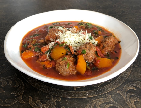 Meatball and Butternut Stew