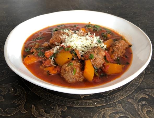 Meatball and Butternut Stew