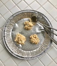 My three test cookies.