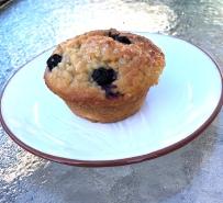 Blueberry Peach Yogurt Muffins